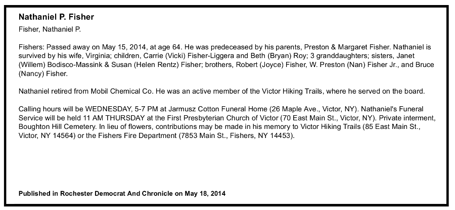 Obituary for Nat Fisher